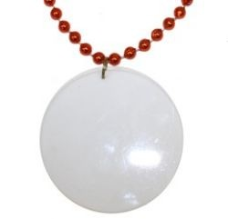 Customizable 3in Medallion Orange Necklace