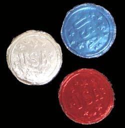 Patriotic USA Bubble Gum Coins/ Doubloons Candy