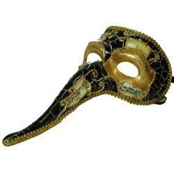 Long Nose Masks: Casanova Masquerade Masks with Musical Notes