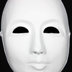 Blank White Paper Mache Full Face Masquerade Mask