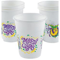 Thin Plastic and Disposable Mardi Gras Cups