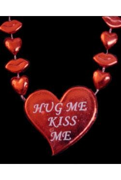 36in Hug Me Kiss Me, Heart Bead