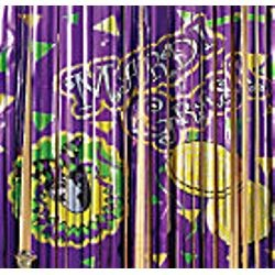 3ft Wide x 8ft Tall Foil Mardi Gras Printed Door Curtain