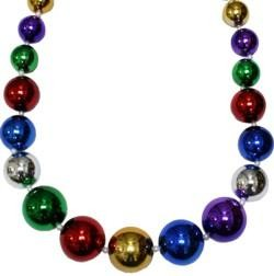 Graduated Rainbow Metallic Round Ball Necklace