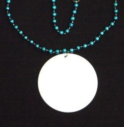 Customizable 3in Medallion Turquoise Necklace