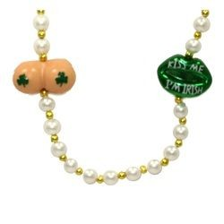 42in Kiss Me Green Lips w/ Butt Beads