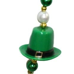 42in St Pats beads w/ 4 Leprechaun Hats