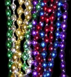 33in 6mm x 9mm Oval Metallic 6 Asst Colors Beads