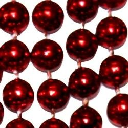 10mm 42in Metallic Red Beads