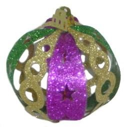 70mm Purple Green Gold Hanging Ornaments