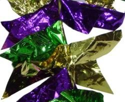 9ft X 9in Swallow Tail Purple Green Gold Garland