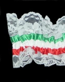 Italian Garter Red/ White/ Green