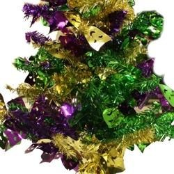 18in Purple Green Gold w/ Comedy Tragedy Center Piece Tree