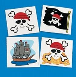 1.5in Pirate Tattoos Assorted Styles.