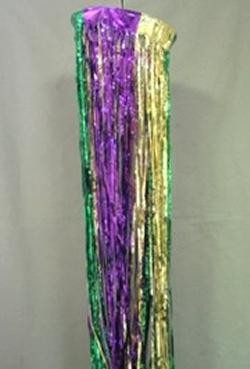 12in x 8ft Purple Green Gold Column