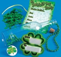 7.5in Plastic St Patricks Day Invitation In A Bottle
