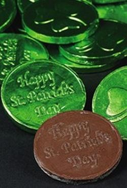 St Patricks Day Chocolate Coins