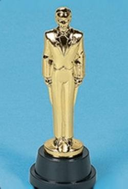 6in Plastic Male Award Statues