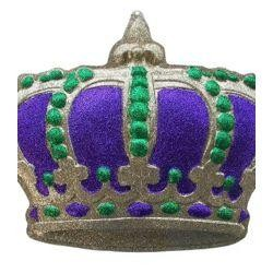 23in x 17in Mardi Gras Glittered Crown Plaque