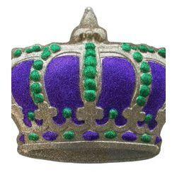 23in x 17in Mardi Gras Glittered Crown Plaque