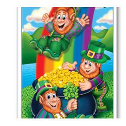 30in x 60in Happy St Pats Day Indoor/ Outdoor Door Cover