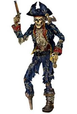 6ft Jointed Pirate Skeleton
