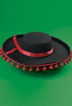 Felt Flamenco Spanish Pom Pom Hat