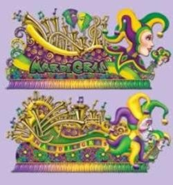 65in and 67in Mardi Gras Float Props Cutouts Back Drop Wall Decorations/ Float Decorations