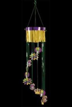 40in Mardi Gras Shimmering Hanging Spiral