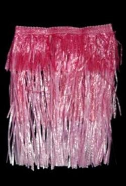 Child Plastic Pink Layered Hula Skirt