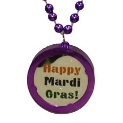 Happy Mardi Gras Blinking Bead