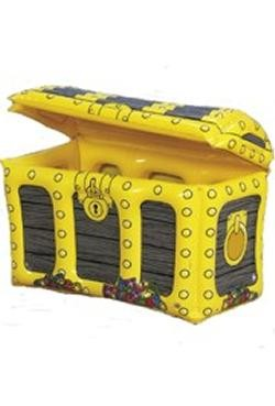 Inflatable Treasure Chest 26in Length x 14in Wide X 19in Tall