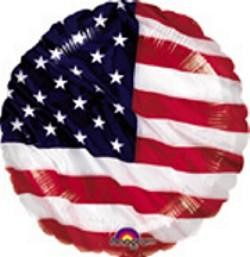 18in Flying Colors Patriotic Flag Mylar Balloons