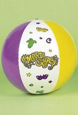 14in Vinyl Inflatable Mardi Gras Beach Balls