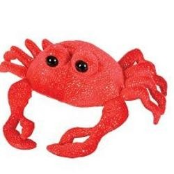 12in Plush Red Sparkle Crab