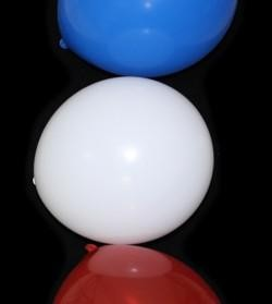12in Red/ White/ Blue Latex Balloons