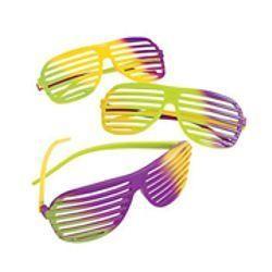 Mardi Gras Plastic Shutter Shading Sunglasses