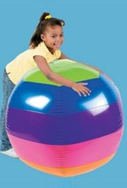 48in Diameter Vinyl Inflatable Giant Rainbow Beach Ball