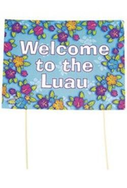 20in Wide 15in Ta Cardboard Tropical Shirt Luau Yard Sign
