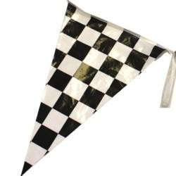 100ft -12in x 18in Plastic Checkered Pennants