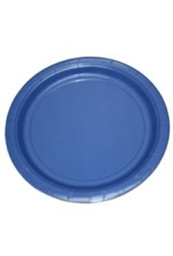 9in Blue Heavy Duty Plastic Plates