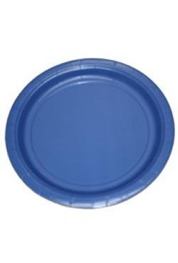 9in Blue Heavy Duty Plastic Plates