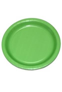7in Citrus Green Heavy Duty Plastic Plates