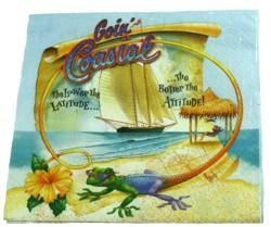 6.5in x 6.5in Goin Coastal Luncheon Napkins