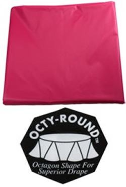 82in Round Hot Magenta Plastic Tablecovers