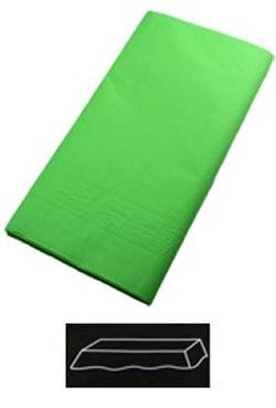 54in x 108in Citrus Green Plastic Lined Paper Tablecovers