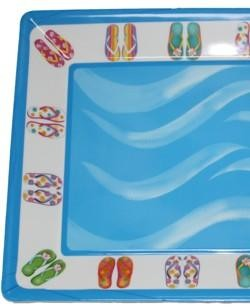 12in x 16in Party Flip Flop Plastic Serving Tray