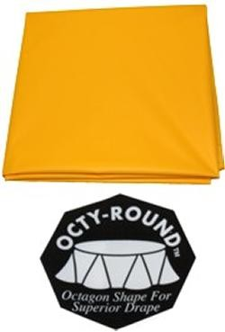 82in School Bus Yellow Round Heavy Duty Plastic Tablecovers