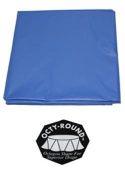82in Blue Round Heavy Duty Plastic Tablecovers