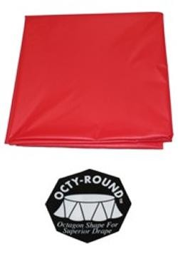 82in Red Round Heavy Duty Plastic Tablecovers